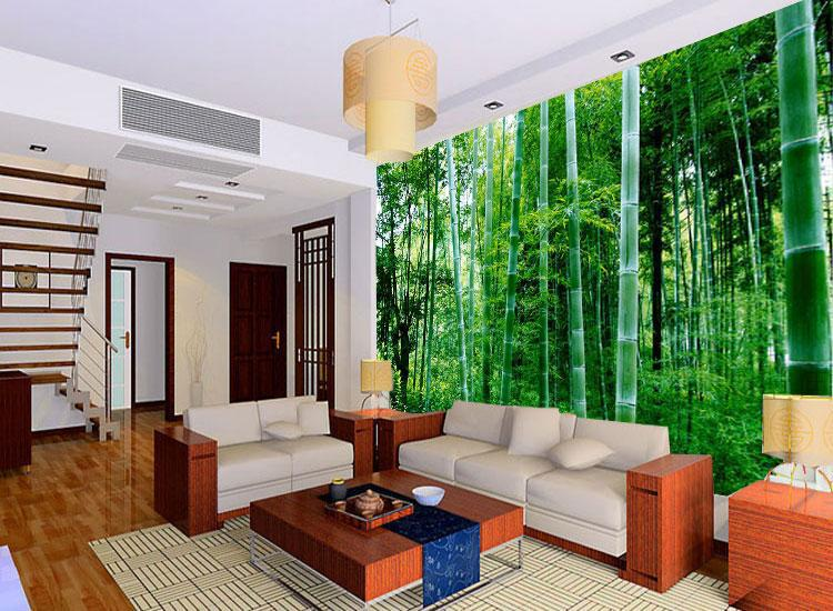 Wallpaper office picture more detailed picture about - Green living room wallpaper ...