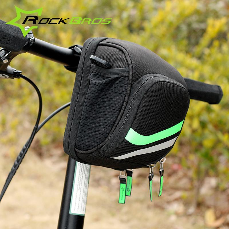 ROCKBROS Bike Front Bag Cycling MTB Folding Bike Frame Handlebar Bag With Rain Cover Cycling Tube Bag Moto delantero del bolso(China (Mainland))