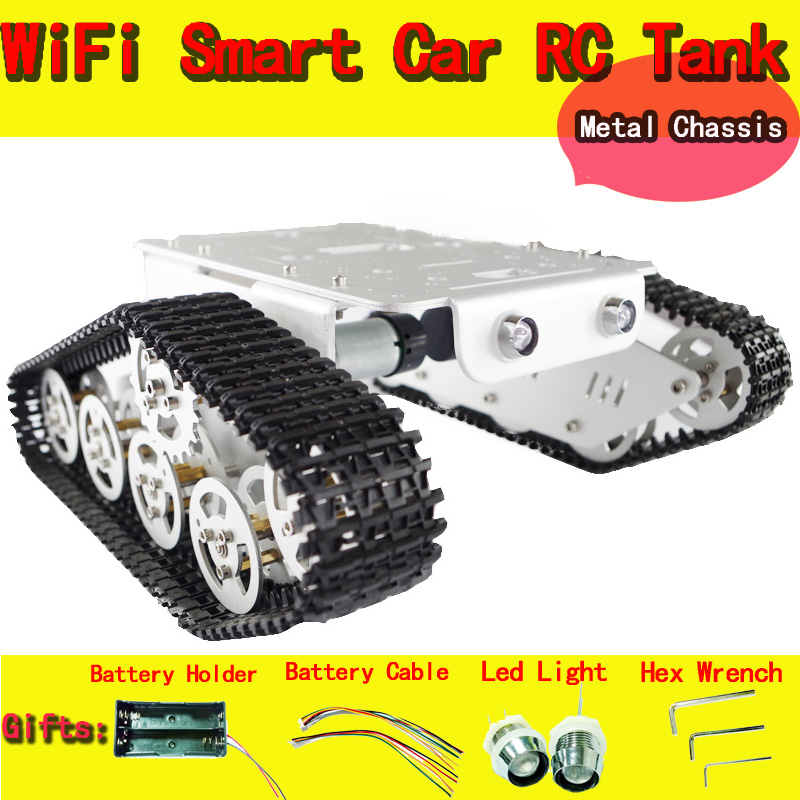 Original DOIT metal robot Tank car Chassis T300 Caterpillar Tractor Crawler Intelligent Robot Obstacle accessory part diy rc toy(China (Mainland))