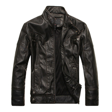 Fashion Men's Leather Motorcycle Coats Jackets Washed Leather Coat MD607(China (Mainland))