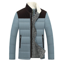 Newest Style Winter Parkas Men Patchwork Thick Clothes Men Winter Outdoor Warm Business Casual Jacket Cotton Overcoat 3 Color
