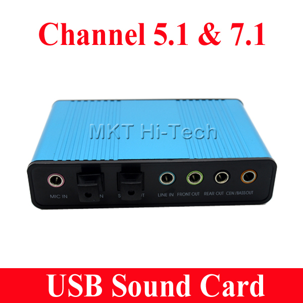 20pcs Professional USB Sound Card 6 Channel 5.1 Optical External Audio Card Adapter SPDIF for PC Computer Notebook Desktop(China (Mainland))