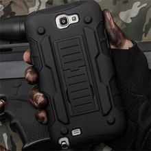 Future Armor Impact Hyrbrid Hard Case for Samsung Galaxy Note 2 II Note2 N7100 N7108 Cell Phone Cover Holster + Flim + Stylus(China (Mainland))