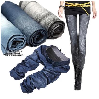 S-XL New 2014 Autumn Fashion Pants Women Thin Denim Jeans Leggings Nine Plus Size Stretch Feet 14 Colors - Buy Your Want To store