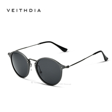 VEITHDIA Brand Fashion Unisex Sun Glasses Polarized Coating Mirror Driving Sunglasses Round Male Eyewear For Men/Women 6358(China (Mainland))