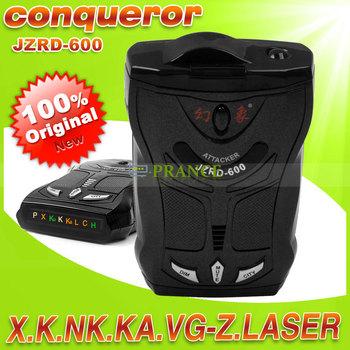 100% Original Conqueror JZRD-600 Car Anti Radar Detector Support X, K, NK,VG-2, LAER English/ Russian Voice