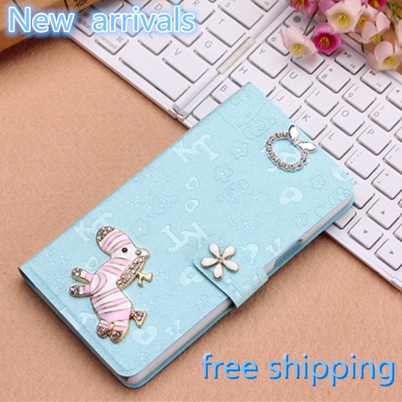 New arrivals cute Case For lenovo A850 with Stand Design and Card Slot Hot Sale Phone Bag Mobile Accessories freeshipping(China (Mainland))