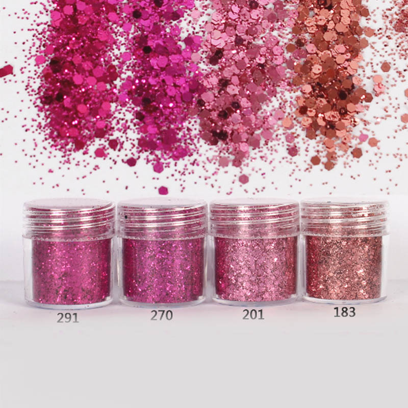 10ml Rose Red Nail Glitter Powder Fine Nailart Holographic Glitter Powder for Nail Dust Paillettes Round Glitter Pulver SF0016(China (Mainland))