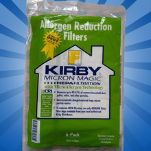 KIRBY VACUUM BAGS: 6 Sentria UNIVERSAL ~ F Style MICRON MAGIC Hepa White Cloth(China (Mainland))