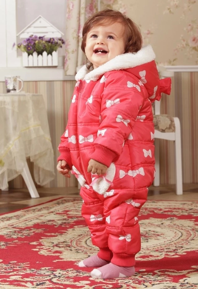 ! Baby clothes female baby winter 0-1 year old 1 - 2 years red bodysuit thickening wadded jacket Tiffanyhouse store
