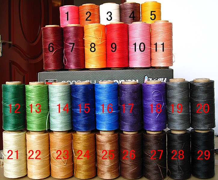 Free Shipping 300 yards in 29 color DIY Sewing Threads Leather Sew wax line Waxed Cords thread tensile strength For Bag Wallet(China (Mainland))
