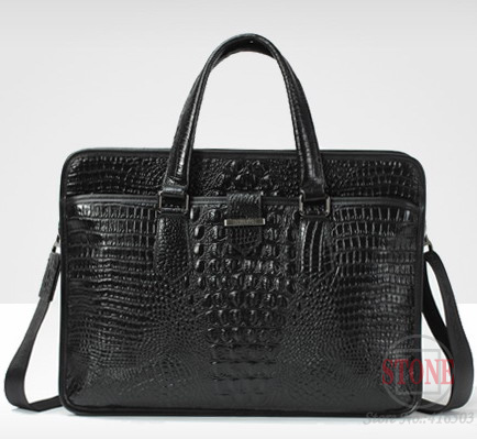 Portable commercial crocodile pattern cowhide man bag genuine leather briefcase b10483<br><br>Aliexpress