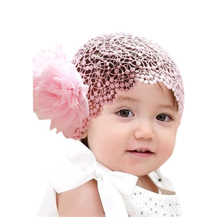 Delicate Hot! 2016 girls headband hair accessories Baby Infant Girl Lace Flower Headband Elastic Hairband Hair Band nor160804(China (Mainland))