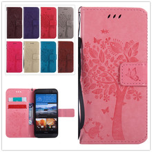 Buy Top Embossing PU Leather Flip Case Cover HTC One M9 M9W Wallet Stand Card Holder Bag cases HTC M 9 for $3.39 in AliExpress store