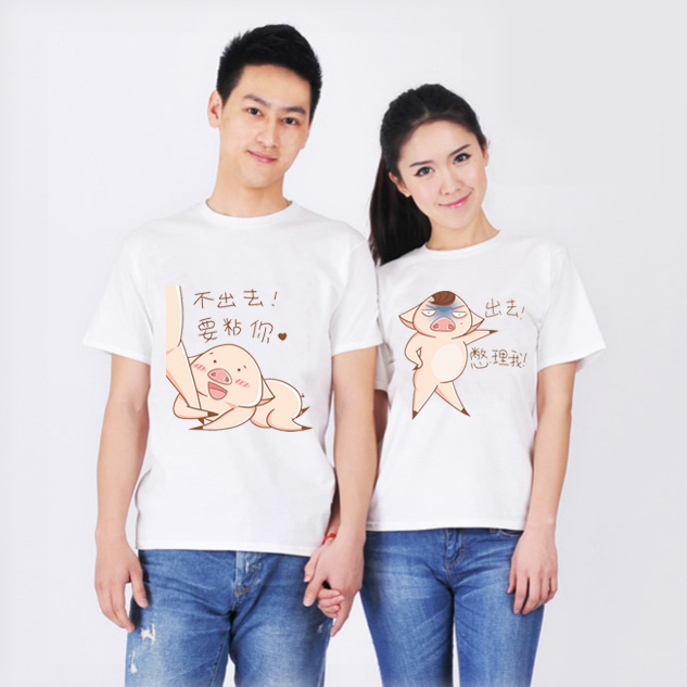 Fashion leisure personality cotton men and women t-shirts printed T-shirt custom T-shirts short sleeves100% modal free shipping(China (Mainland))