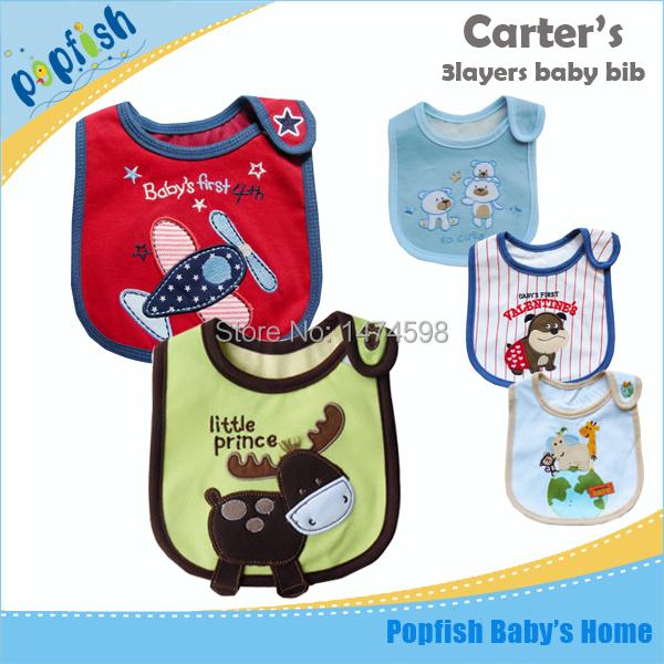 2015 Brand 5pcs/lot Baby Bibs Bape Feeding Cartoon Design For Boys Girls Innovative Items Cartoon bib(China (Mainland))