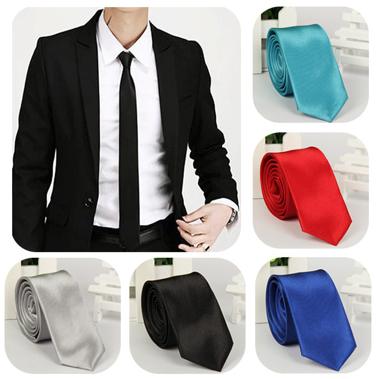2015 Hot Sale Fashion Casual Slim Tie Men's Solid Color Skinny Necktie Formal Wedding Party Ties For Men 40 Colors Optional(China (Mainland))