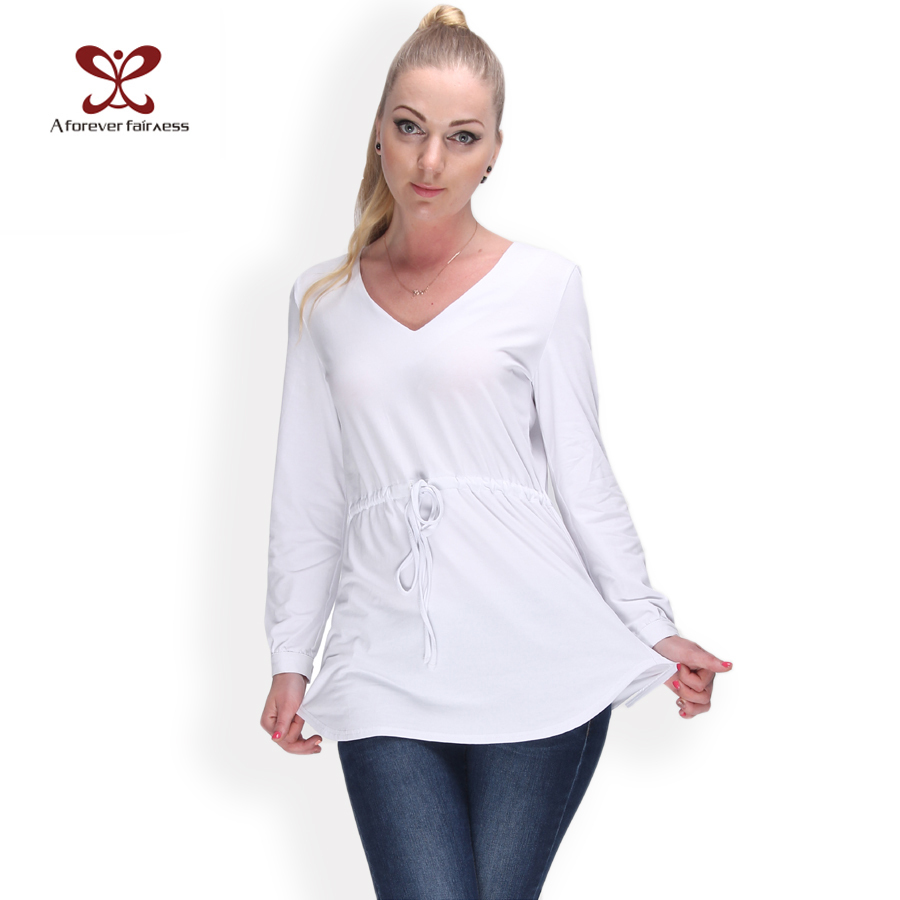 Women blouse v neck long sleeve slim casual white shirt Buy white dress shirt