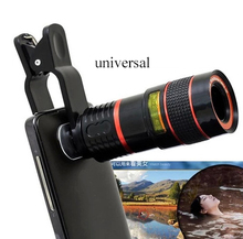 Buy Universal Clip 8X Zoom Mobile Phone Telescope Lens Telephoto External Smartphone Camera Lens Smartphone PC Laptop for $8.48 in AliExpress store