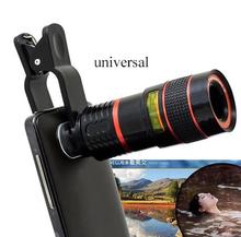 Universal 8X Optical Zoom Telescope Camera Mobile Phone Lens For Nokia lumia 530 550 950 950xl 820 1020 xl glass + metal lenses