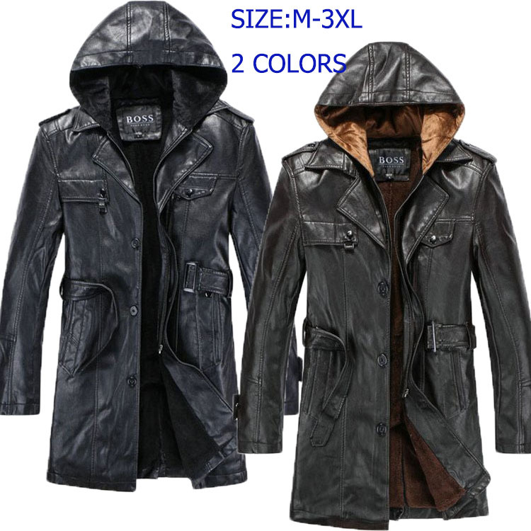 A great selection of men's leather trench coats, all made of premium leather. Some EXCLUSIVE style only available from Jamin Leather. Weather you wear over a suit, over your biker duds or with nothing underneath you will definitely capture their attention wearing a Jamin Leather trench coat.