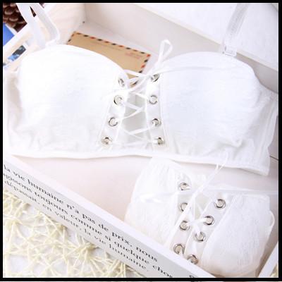 Intimates Japanese super Sexy bra push up white and black Princess straps belt lace women bra sets 2015 New Arrival Hot Brand(China (Mainland))
