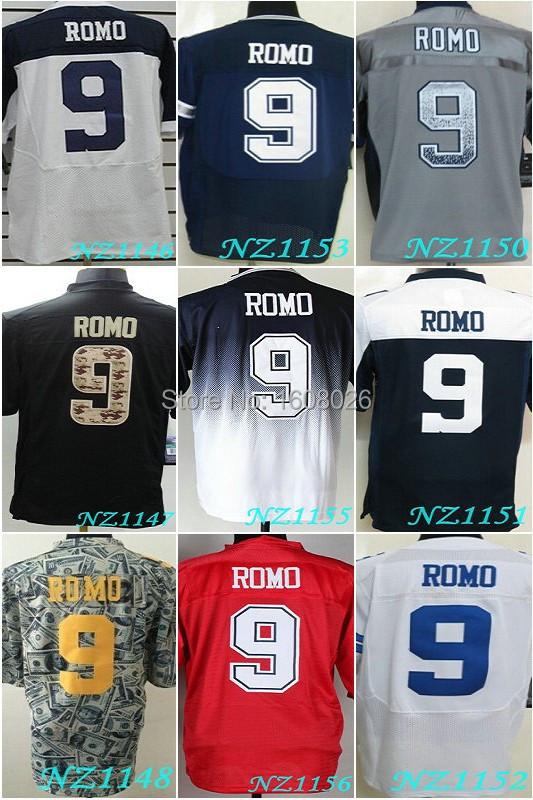 2015 Dallas #9 Tony Romo Jersey Elite thanksgiven blue white grey red black playoff jerseys, Cheap Men's Tony Romo Jersey(China (Mainland))