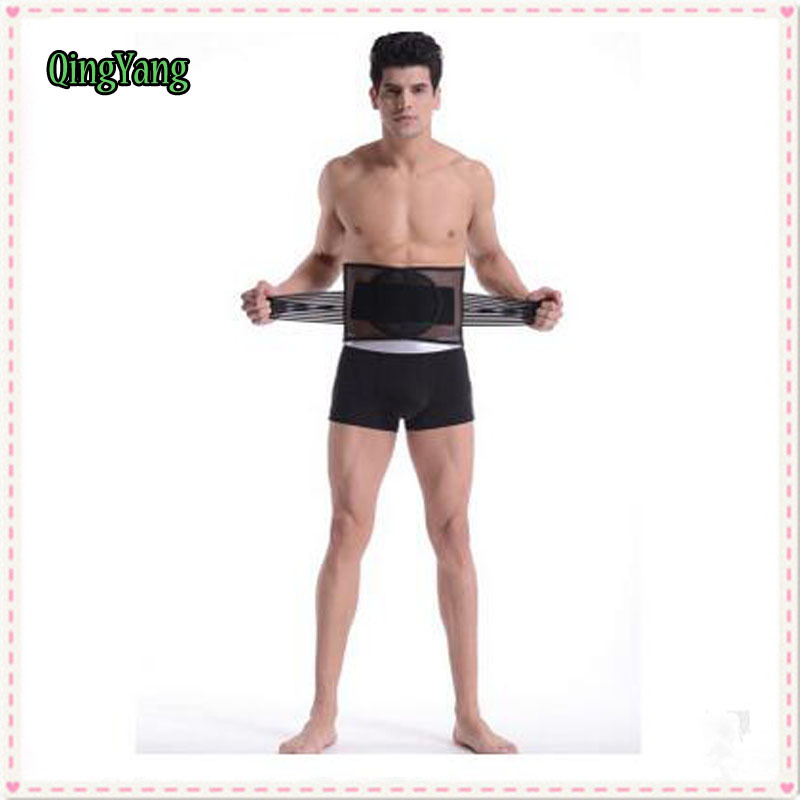 Men Waist Trainer Slimming Belt.breathable comfortable curvature steel Shaper belt prevent strain