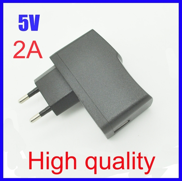 High quality EU Plug EU Version AC 100-240V /DC 5V 2A 2000mA USB Charger Adapter Power Supply Wall Home Office,Free Shipping