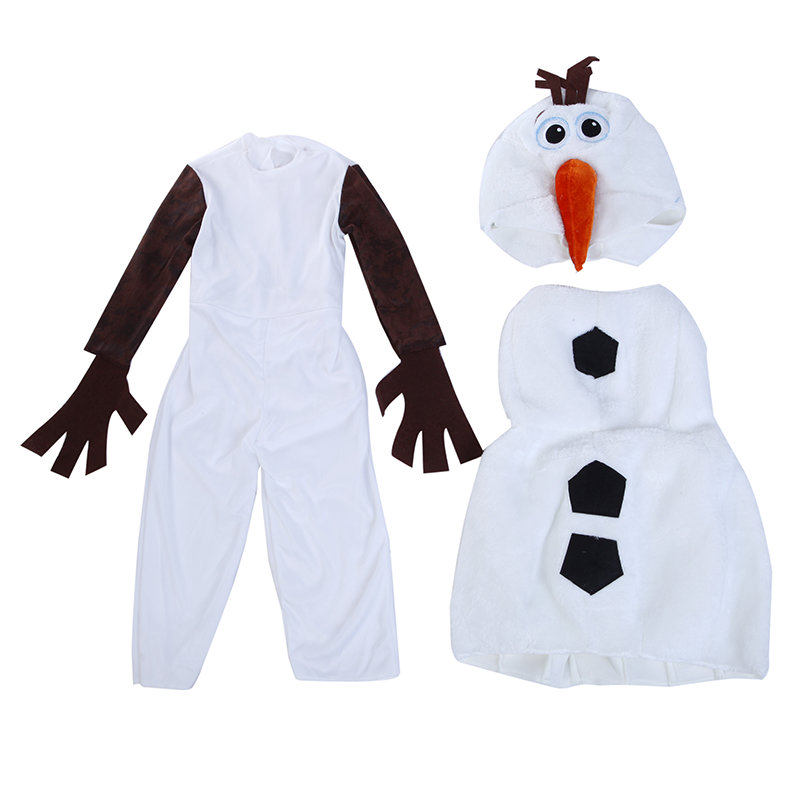 On Sale Cute Toddlers and Kids Deluxe Olaf Movie Cosplay Clothing Child Halloween Carnival Party Fancy Dress Costumes