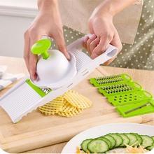 7 in 1 Plastic Vegetable Fruit Slicers Cutter Adjustable Stainless Steel Blades Multi-function ABS Peeler Grater Slicer KC1055(China (Mainland))