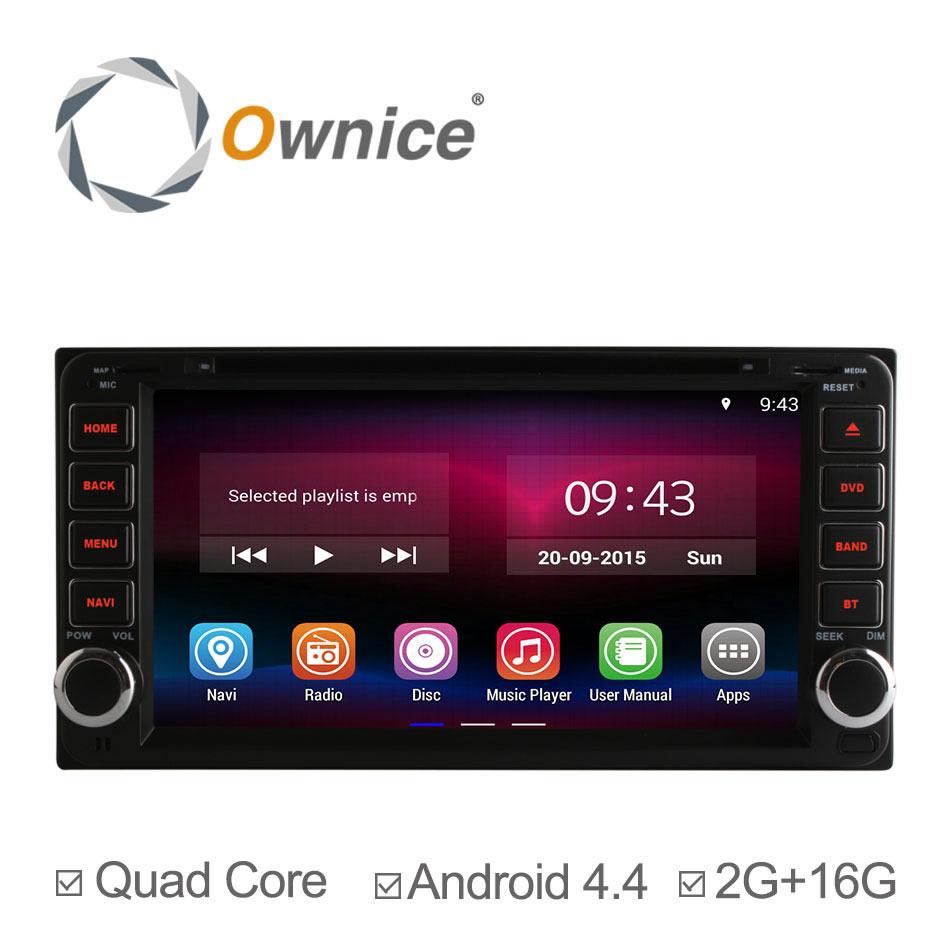 Quad Core Android 4.4.2 Car DVD Player For Toyota Universal RAV4 COROLLA VIOS HILUX Terios Land Cruiser 100 PRADO 4RUNNER 2G/16G(China (Mainland))