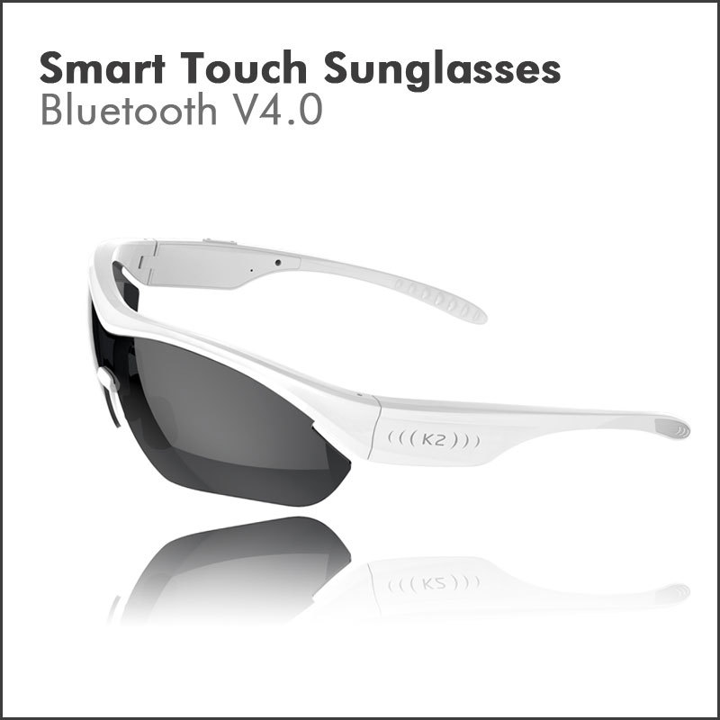 Gonbes Hands-free Smart Touch Control Sun Glasses Wireless Bluetooth Stereo Headset Earphones Sunglasses for iPhone Samsung HTC(China (Mainland))