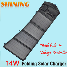 14W 18V Outdoor Solar Panel USB Charger Battery Power Bank Folding Solar Charging Bag For Moible Phone Camping Travel Backpacks(China (Mainland))