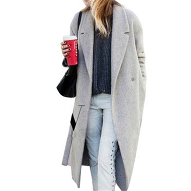 Womens grey wool trench coat – Novelties of modern fashion photo blog