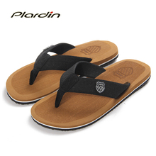 Plardin 2016 Casual Thong Men's Sandals Men Flat Sandals Beach Shoes For Men Flip Flops Men Patchwork Mens Sandals