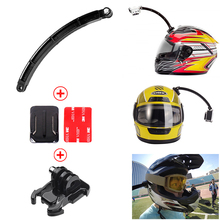 Action Camera Accessories Helmet Extension Arm Kit Self Photo+Curved Adhesive Mount For Gopro Hero 4 3 Xiao mi Yi SJCAM SJ4000(China (Mainland))