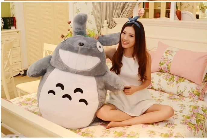 huge plush lovely Totoro toy big stuffed laughing expression totoro doll gift about 140cm(China (Mainland))