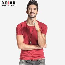 XDIAN new men shirt round collar short sleeve T-shirt cotton pure color comfortable multicolor short sleeve T shirt t-067