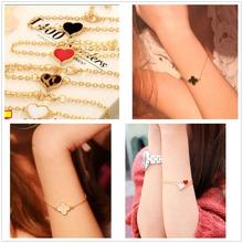 Hot Men Pulseras Masculina Bijoux New Fashion Heart Bracelet For Women Charm Bracelets Wedding Jewelry Accessories Bangles(China (Mainland))