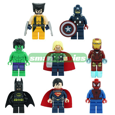 Marval Super Heroes The Avengers Batman Hulk Ninja Turtles Star wars Minifigure blocks bricks building DIY Educational toys(China (Mainland))