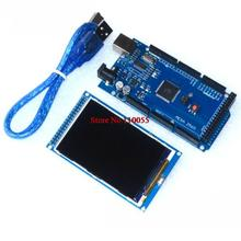 Free shipping! 3.2 inch TFT LCD screen module Ultra HD 320X480 for Arduino + MEGA 2560 R3 Board with usb cable(China (Mainland))