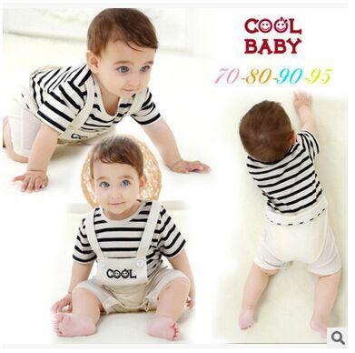 baby clothing ropa recien nacido carter Baby gentleman Romper newborn Siamese strap cotton coveralls climbing clothes(China (Mainland))
