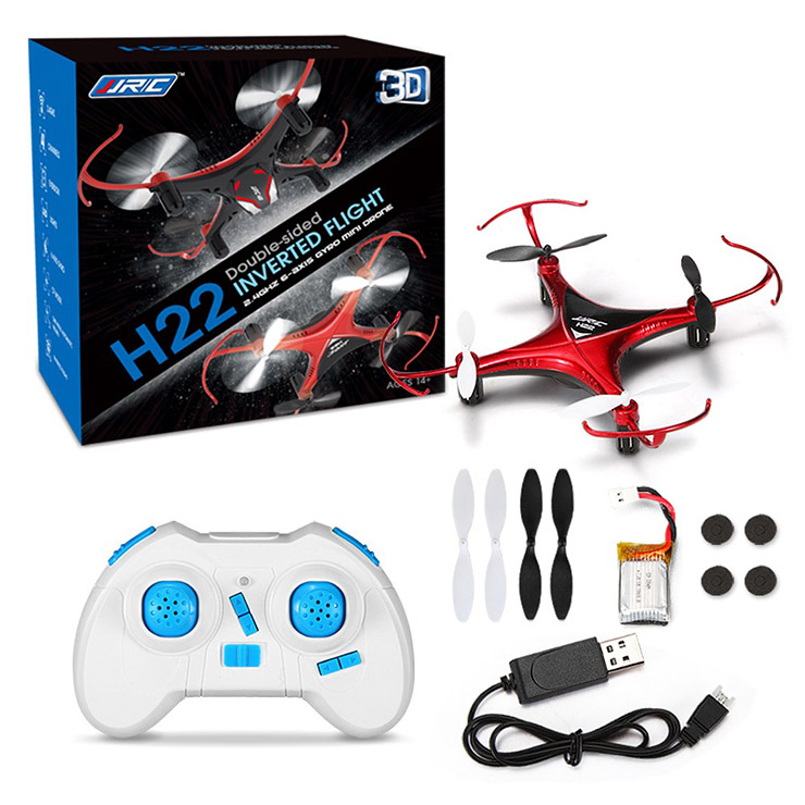 Hot Sell Original JJRC H22 2.4G 6 Axis Gyro Headless 3D Inverted Flight One Key Return RC Quadcopter Plane