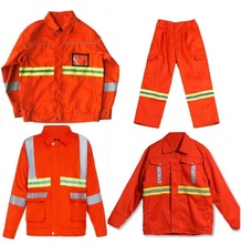 Sanitation, working, road maintenance, engineering, construction site safety reflective clothing Reflective overall warning coat(China (Mainland))