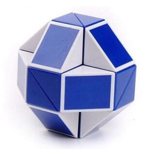 New 2014 Puzzle Twist Puzzle Toy Magic Snake Shape Toy Game 3D CUBE White/Blue(China (Mainland))