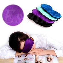 1 PCS Portable Pure Silk Soft Travel Sleep Rest Aid Eye Mask Cover Eye Patch Blindfold(China (Mainland))