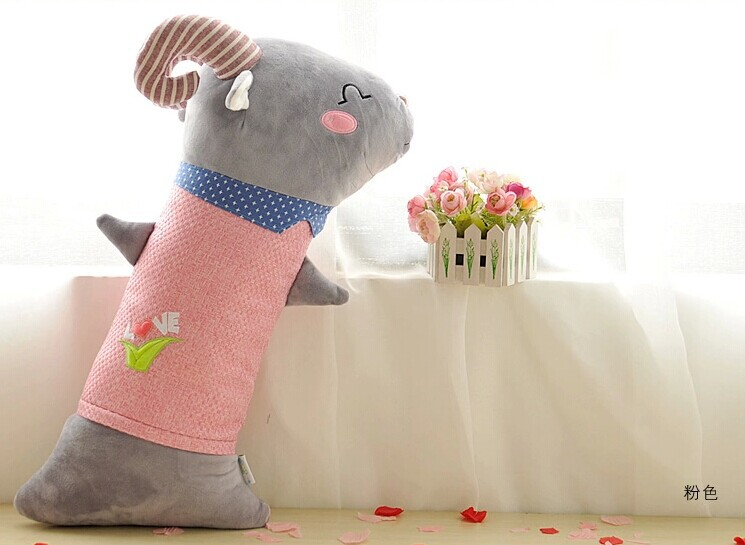 creative love sheep pillow toy pink goat stuffed toy hold pillow birthday gift about 60cm(China (Mainland))