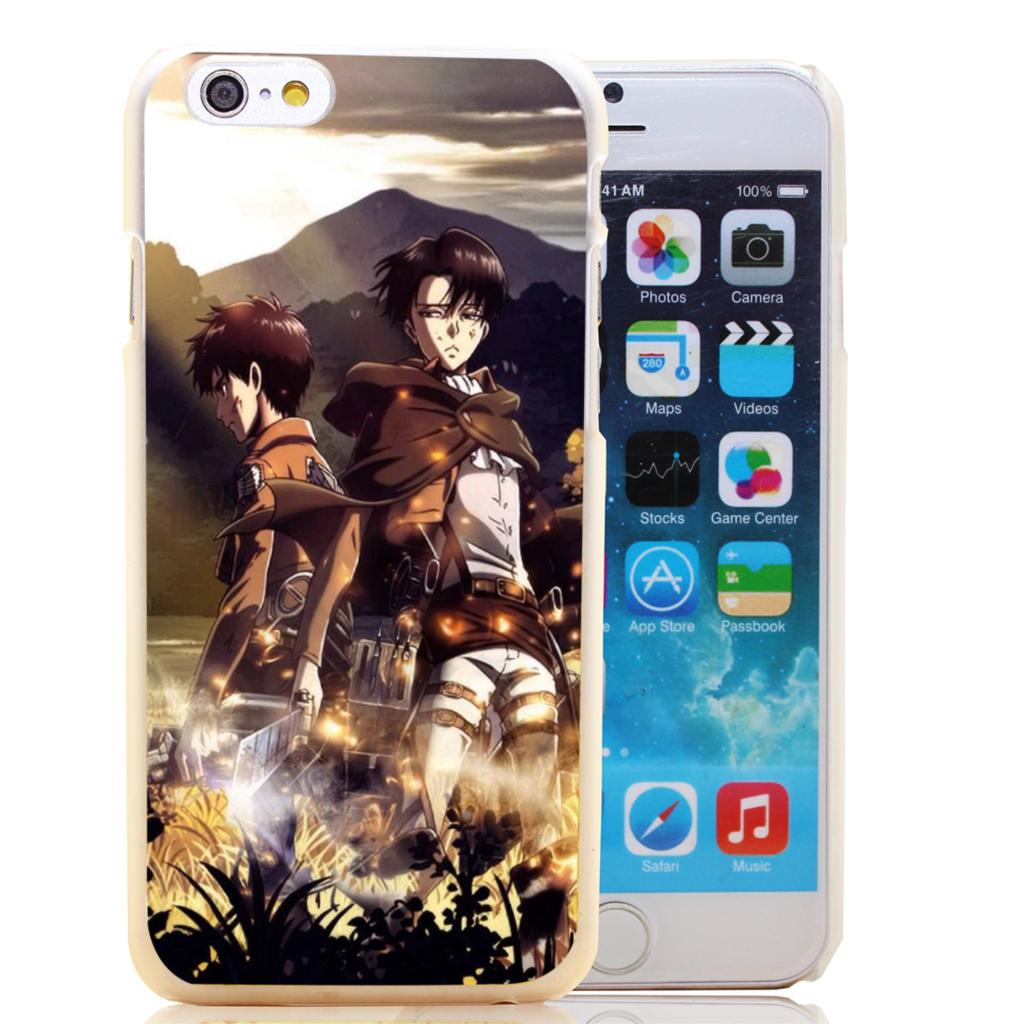 113-HOQE Attack On Titan Eren Jaeger Rivaille <font><b>Amazing</b></font> Transparent Hard <font><b>Case</b></font> Cover for <font><b>iPhone</b></font> 6 6s plus 5 5s 5c 4 4s Phone <font><b>Cases</b></font>