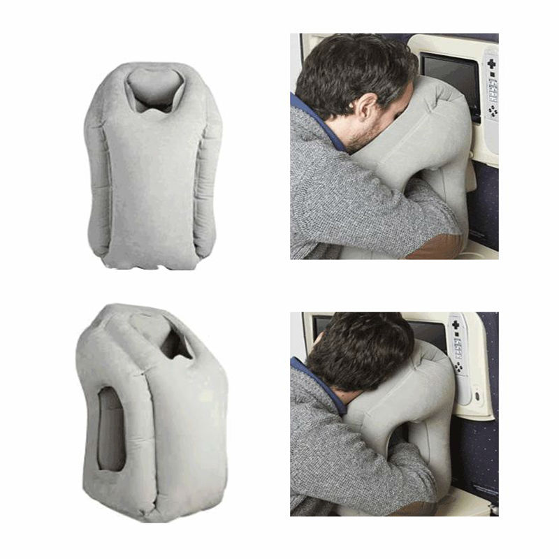 Travel Pillow air Inflatable Cushion Airplane Pillows Neck Pillow Traveling Bolster Car Pillows for Sleeping Bedding 50*35CM(China (Mainland))